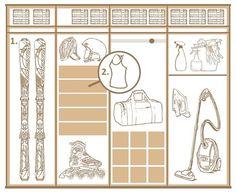 Šatní skříně - vnitřní uspořádání