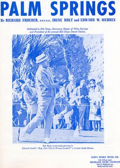 Bob Hope Sheet Music for the Bob Hope Golf Classic in Palm Springs, CA