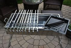 Amazon party griller 32 stainless steel charcoal grill eight24hours stainless steel charcoal grill kebab bbq portable mangal 10 free skewers free ebook fandeluxe Choice Image