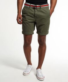 Men s Superdry Chino Shorts Herren Hose Green Army style Pants Size: L