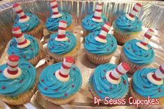 Dr. Seuss, Cat in the Hat cupcakes