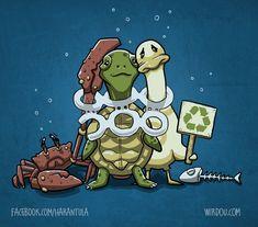 Recicle. Não polua os mares