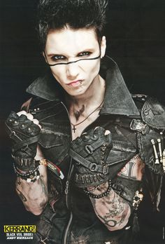 Andy Biersack, the founder and lead vocalist for Black Veil Brides
