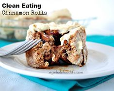 Clean Eating -- Spelt Cinnamon Rolls with Cashew Cream Frosting