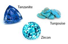 If you are lucky enough to be born in December then a triple December birthstones treat awaits you -Zircon, Tanzanite, and Turquoise. Tanzanite Stone, Blue Zircon, Birthstone Jewelry, Heart Jewelry, Gemstone Colors, Bracelet Making, Birthstones, Jewelery, Jewelry Accessories