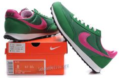 Pink and green Nike