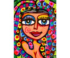Egyptian Princess Whimsical Girl Print by AGirlAnOwlAndACat, $9.50