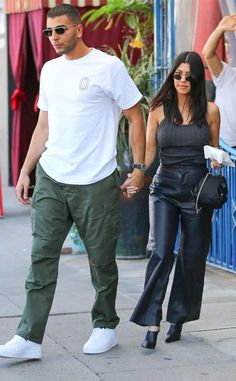 Younes Bendjima & Kourtney Kardashian from The Big Picture: Today's Hot Photos Lunch for two! The cute couple hold hands after enjoying a bite to eat at Little Next Door in Los Angeles.