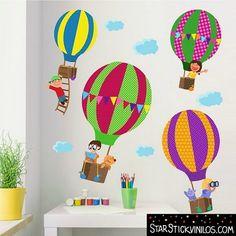 Decorar habitaciones de bebés con Globos Aerostáticos   Habitaciones Tematicas