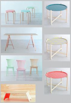 Ikea I like the tables. Would paint the legs though. Maybe gold or black? Retro Furniture, Repurposed Furniture, Home Decor Furniture, Cheap Furniture, Discount Furniture, Kids Furniture, Diy Home Decor, Furniture Design, Room Decor