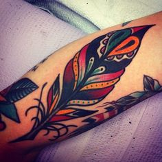 cool traditional style feather