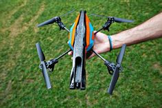 AR.Drone 2.0 Wicked 720p front camera, stable as high as 164 feet, control from your smartphone or tablet.