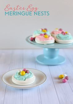 Easter Egg Meringue Nests with Pastel Whipped Cream - An easy and tasty Easter recipe for everyone!