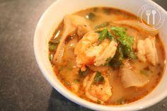 Thaise recepten van Piyawadee: Pikante-zure garnalensoep : Tom Jam Koeng