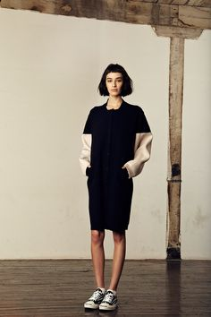 Love this bomber jacket inspired dress by M. Patmos, Fall 2014…. DOPE!