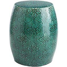 Thos Baker Ceramic Garden Stool Cerulean 245 liked on