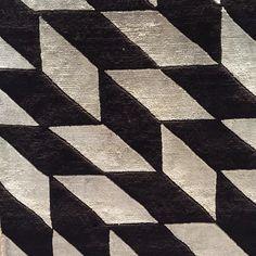 Gorgeous geometric silk #rug in black and white. #flooring