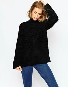 Chunky Jumper with High Neck