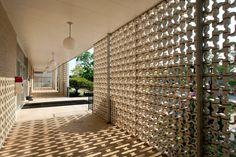decorative concrete block wall