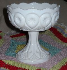 Fostoria Milk Glass Comport Compote in the Louise Patter circa 1957-1965 by LovesVintageFinds, $20.00