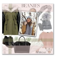 """Beanies"" by sabine-herrlock ❤ liked on Polyvore featuring Acne Studios, Max&Co., L.K.Bennett, J.Crew, Givenchy and pompombeanies"