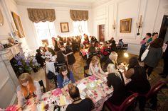 The Robert Adam room filled with guests during a Jacques Cider experiential event.