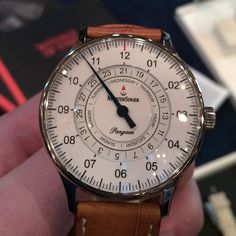 Pangaea Day Date One-Handed Watch by MeisterSinger