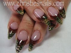 Christies Nails - We'll style, You'll smile! Pointed Nails, Stiletto Nails, Gel Nails, Pointed Nail Designs, Nail Colour, Color, Crazy Nails, Trendy Nails, Snake Skin