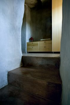 Staircase and hallway in holiday house on Tinos Island