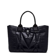 MCM Medium Kissen Shopper Tote In Black
