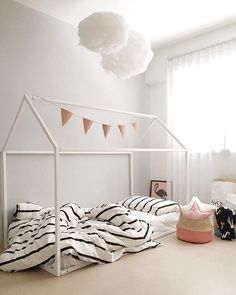 Beautiful Childrens Beds from Saartje Prum House Frame Bed, House Beds, Bed Frame, Girls Bunk Beds, Kid Beds, Girls Bedroom, Kids Bed Design, Kids Beds With Storage, Childrens Beds
