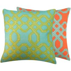 2 looks one pillow.... Blue+Orange+Pillow+Cover+20+Lilly+Pulitzer++by+ChloeandOliveDotCom,+$61.50