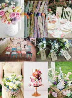 Floral Spring Wedding Ideas Mood Board from The #Wedding Community