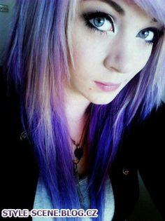 Amber McCrackin ~ Purple amazing hair! | SCENE style^^ blog~ | We ...