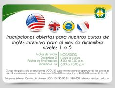 NUEVOS PROMOS CENTRO DE IDIOMAS UCO Uco, Schedule, Languages, Centre