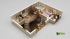 Diseño y animación de planos de pisos 3D Home.