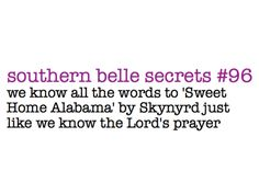 "Except I sing it as ""Sweet Home North of Bama"" b/c let's face it..I'm a Tennessee girl thru and thru!!"