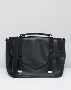 Pimkie Leather Look Satchel Crossbody Bag