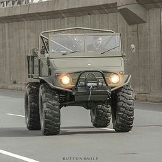 from @button_built - To destroy monsters one must first become one himself...or in this case, surround himself with one. #ButtonBuilt #MercedesBenz #Unimog #Unimonster #