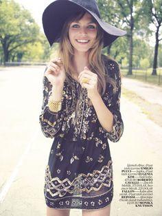 Vogue Turkey Editorial September 2013 - Karlina Caune by David Bellemere