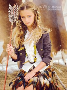 the concept of a girl in a teepee with the perfect props is such a great idea!