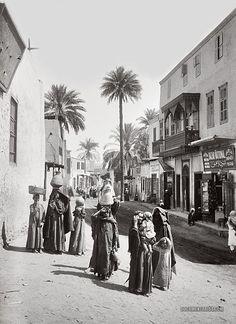 Street scene. Luxor, Egypt. 1900-1920