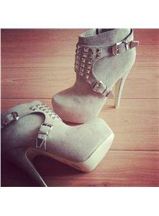 Fancy Platform Stiletto Heel Knee High Boots