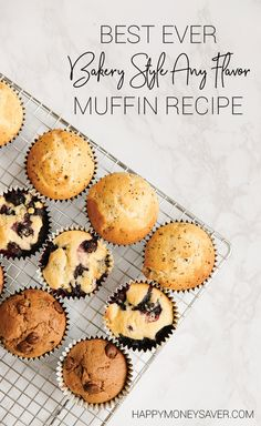 Learn to make a basic muffin batter that works with infinite flavors. via happym… - Foods Recipe Freezer Friendly Meals, Healthy Freezer Meals, Healthy Muffin Recipes, Freezer Recipes, Bread Recipes, Muffin Batter Recipe, Simple Muffin Recipe, Make Ahead Breakfast, Breakfast Recipes