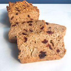 Appel kaneel cranberry havermoutcake - De website van zonderfratsen! Veggie Recipes, Cooking Recipes, Banana Bread, Veggies, Gluten Free, Snacks, Healthy, Breakfast, Sin Gluten