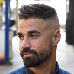 Side Swept Ivy League Haircut - Best Men's Hairstyles: Cool Haircuts For Men. Most Popular Short, Medium and Long Hairstyles For Guys Mens Hairstyles With Beard, Cool Hairstyles For Men, Cool Haircuts, Hairstyles Haircuts, Haircuts For Men, Hairstyle Ideas, Short Hair Hairstyle Men, Pompadour Hairstyle For Men, Beard Styles For Men