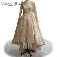 VARBOO_ELSA Front Short Long Back Evening Dresses Rose Gold Sparkly Prom Gowns 2017 Custom High Quality Muslim Women Formal Gown. Yesterday's price: US $280.00 (228.59 EUR). Today's price: US $170.80 (139.90 EUR). Discount: 39%.