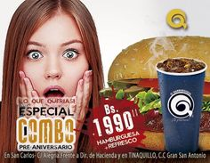 Vas a perder esta oportunidad? Ven y comete una #Qhamburguesa mas 1Refresco. http://ift.tt/2e4JdHO