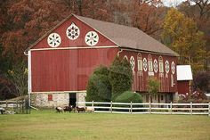 New Smithville Bark Barn With Hex Signs,