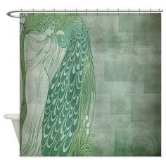 mackintosh roses art nouveau shower curtain | shower curtains